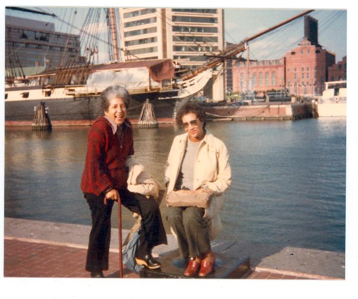 Antonia Pantoja and Wilhelmina at harbor
