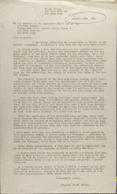 Correspondence from Frank Ibáñez