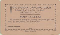 Vanguardia Dancing Club membership card