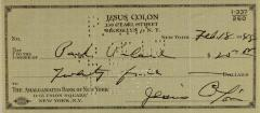 Payment to Park Palace from Jesús Colón