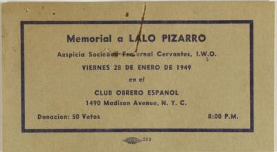 Memorial a Lalo Pizarro