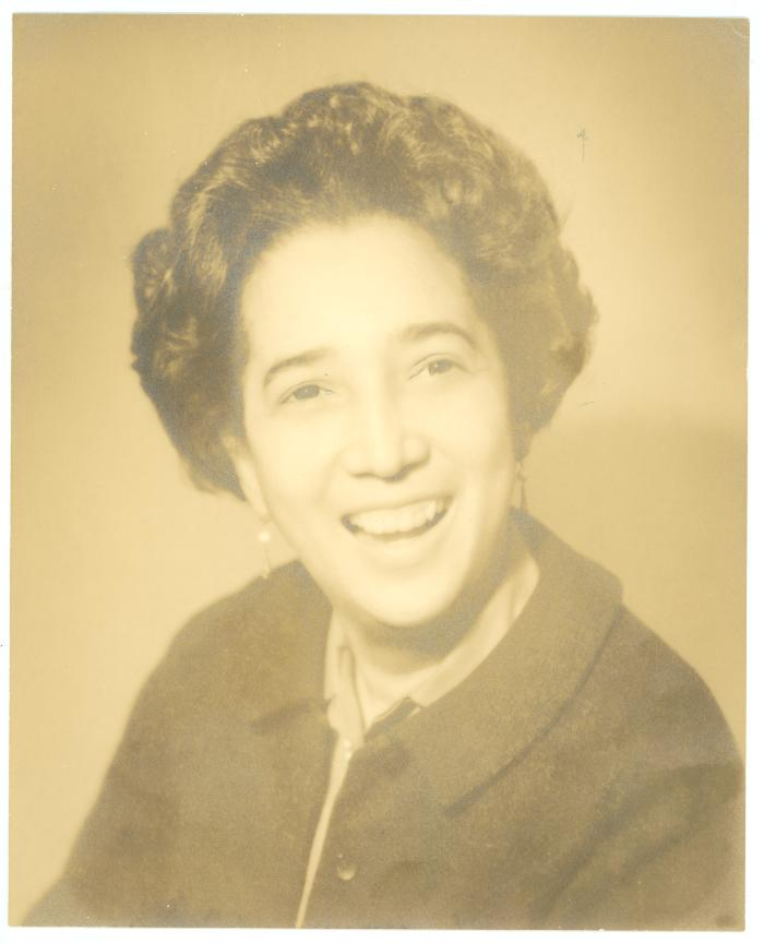Portrait of Antonia Pantoja smiling