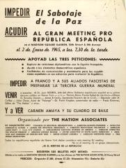Al Gran Meeting Pro República Española / To the Grand Meeting for the Spanish Republic