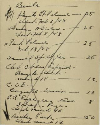 Manuscript notes for International Workers Order