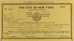 Police License for Public Dance