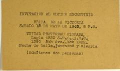 Invitación Al Último Escrutinio / Invitation to the Last Scrutiny