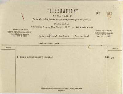Liberacion invoice statement