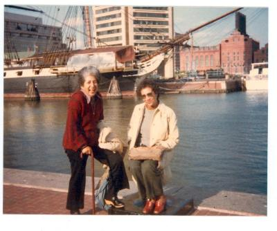Antonia Pantoja and Wilhelmina at harbor