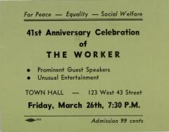 41st Anniversary Celebration of The Worker