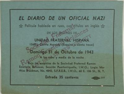El Diario de un Oficial Nazi / The Diary of a Nazi Officer