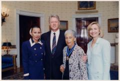 Nydia Velazquez, Bill Clinton, Antonia Pantoja, and Hillary Clinton