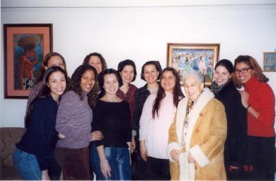 Accomplished young women meet with Antonia Pantoja