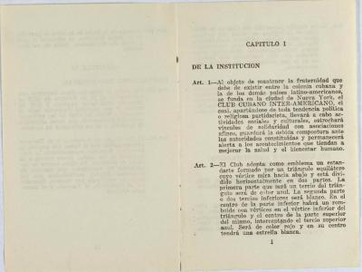 Club Cubano Inter-Americano - Reglamento / Regulation