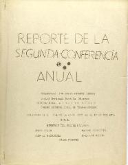 Reporte de la Segunda Conferencia Anual / Report of the Second Annual Conference