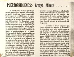 Puertorriqueños: Arroyo Miente