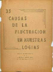 35 Causas de la Fluctuacion En Nuestras Logias / 35 Causes of Fluctuation in Our Lodges