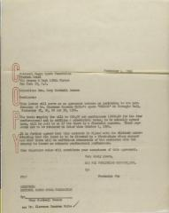 Correspondence to the National Negro Opera Foundation