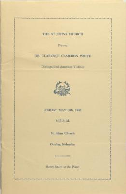 Program for Clarence Cameron White