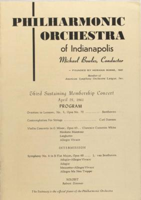 Third Sustaining Membership Concert