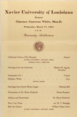 Xavier University of Louisiana honors Clarence Cameron White