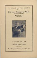 Clarence Cameron White concert program