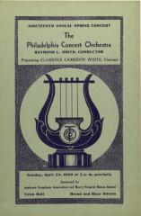 Philadelphia Concert Orchestra program