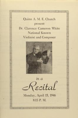 Clarence Cameron White Recital