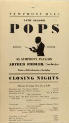 Symphony Hall 54th Season - Pops