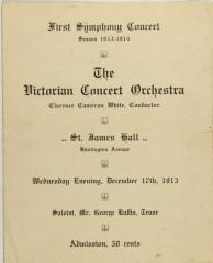 First Symphony Concert of the Victorian Concert Orchestra