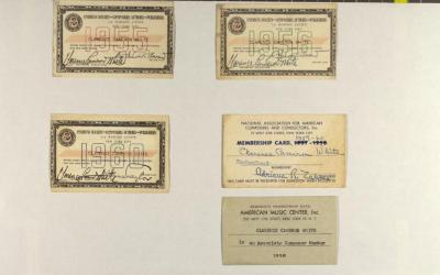 Membership Cards for Clarence Cameron White