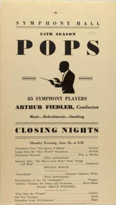 Symphony Hall 54th Season - Pops