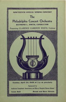 Philadelphia Concert Orchestra program