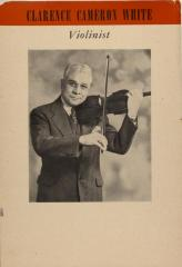 Clarence Cameron White - Violinist