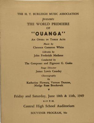 Ouanga - An Opera in Three Acts