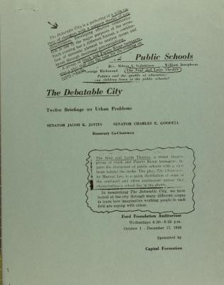 The Debatable City - Twelve Briefings on Urban Problems