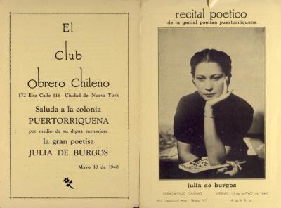 Recital poetico de la genial poetisa puertorriqueña Julia de Burgos