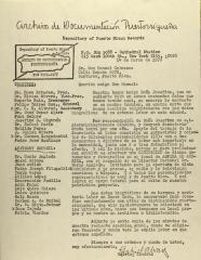 Correspondence from Archivo de Documentacion Puertorriqueña