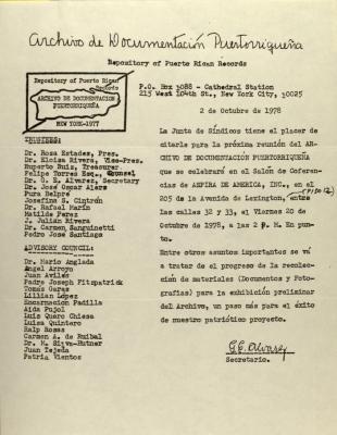 Archivo de Documentacion Puertorriqueña - Repository of Puerto Rican Records