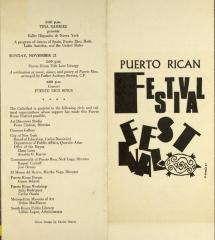 Puerto Rican Festival brochure