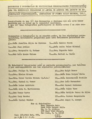 Archivo de Documentacion Puertorriqueña and ASPIRA