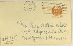 Meeting Appointment Card for Archivo de Documentacion Puertorriqueña