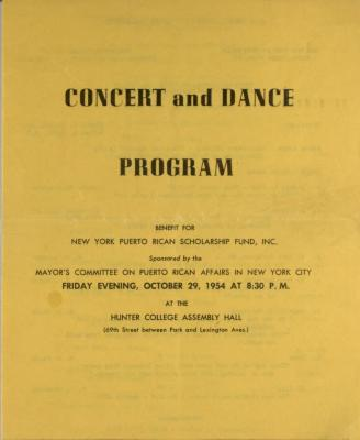 Concert and Dance Program