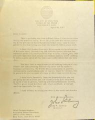 Correspondence from John V. Lindsay