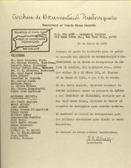 Meeting notice between Archivo de Documentacion Puertorriqueña and ASPIRA