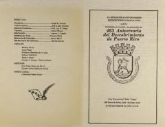483 Aniversario del Descubrimiento de Puerto Rico / 483th Anniversary of the Discovery of Puerto Rico