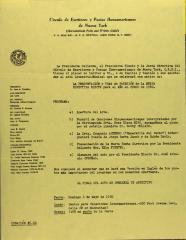 La Presentación y Toma de Posesion de la Nueva Directiva Electa Para El Año Curso de 1980 / The Presentation and Taking of Possession of the New Directive Elected for the Year Course of 1980