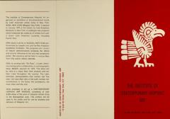 The Institute of Contemporary Hispanic Art brochure