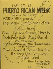 The Many Contributions of the Puerto Rican