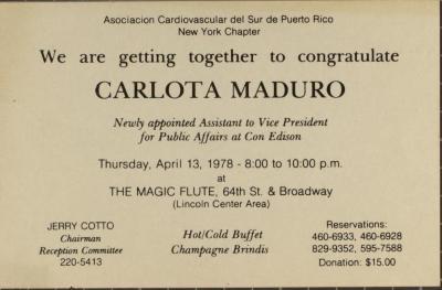 Celebration of Carlota Maduro