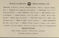 Instituto de Puerto Rico - Premios de Culturales (Cultural Awards) - 1980